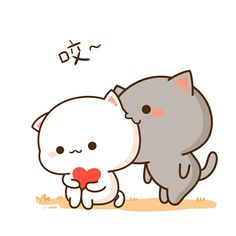 Cute Cartoon Images, Cute Couple Cartoon, Cute Cartoon Wallpapers, Cute Images, Kawaii Anime, Kawaii Cat, Cute Love Pictures, Cute Love Gif, Chibi Cat