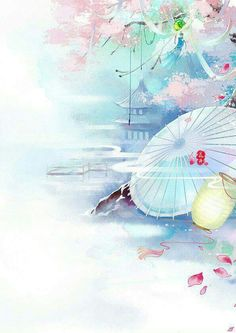 Umbrella temple and flower art Chinese Drawings, Art Drawings, Image Japon, Art And Illustration, Illustrations, Art Asiatique, Jung So Min, China Art, Anime Scenery