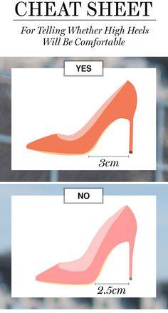 A cheat sheet for comfortable high heels