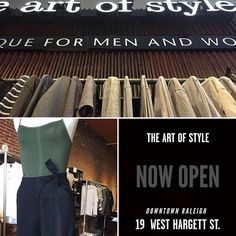 @shoptheartofstyle is now open in #downtownraleigh! Go to the #newlocation and check out all the #fallfashion! #showsomlocallove #fallishere #fall #raleigh #shoplocal