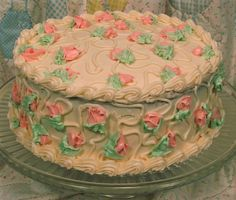 Amy Cake (Coconut Pecan w/Cream Cheese Frosting) Recipe Pretty Birthday Cakes, Pretty Cakes, Beautiful Cakes, Amazing Cakes, Coconut Pecan, Cute Desserts, Just Cakes, Food Cravings, Let Them Eat Cake
