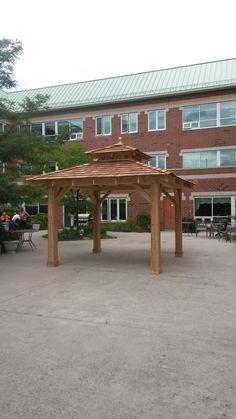 x Cedar pavilion by Flamborough Patio Garden Structures, Outdoor Structures, Gazebo, Pergola, Outdoor Spaces, Outdoor Decor, Sunrooms, Fences, Pavilion