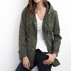 Velvet by Graham & Spencer Army Jacket BRAND NEW Velvet by Graham & Spencer Selia hooded army jacket. Fits like L. Brand new, never worn. Perfect light Spring jacket! Velvet Jackets & Coats