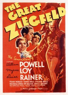 The Great Ziegfeld is a 1936  Metro-Goldwyn-Mayer musical film directed by Robert Z. Leonard and produced by Hunt Stromberg. Description from imgarcade.com. I searched for this on bing.com/images