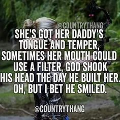 So true! I am my daddy's mini me