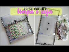 Porta Máscara de Proteção | Limpa e Suja | Bia Feltz - YouTube Scrap Fabric Projects, Fabric Scraps, Fun Projects, Sewing Projects, Crafts For Teens, Crafts To Do, Diy Crafts, Sewing Accessories, Diy Mask