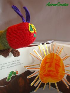 The Very Hungry Caterpillar soft hand knitted toy by AniramCreates, £36.00