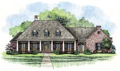 Madden Home Design - French Country house plans, Acadian house plans Acadian House Plans, French Country House Plans, Southern House Plans, French Country Style, Southern Style, Dream House Plans, House Floor Plans, Architectural Design House Plans, Architecture Design