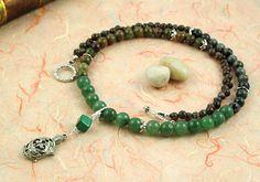 Pregnancy Trimester Tracking Necklace - Pick your charm - Green Forest - Aventurine, labradorite, unakite, malachite: https://www.etsy.com/listing/179992526/pregnancy-trimester-tracking-necklace