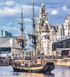 "The tall ship ""Phoenix"" at Liverpool, 11th september 2016. Brig standing a 34.14 m in length, all wood, period construction and sails with a crew of 8. This ship has appeared in countless film and television productions – she was the star of Ron Howard's film 'In the Heart of the Sea' where she portrayed the real life whaling ship the 'Essex'. The film is based on the true story of the Essex which inspired Herman Melvil..."