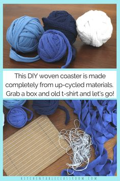 These DIY coasters are an excellent intro to textile weaving & have a super cute, gift worthy finished product. Totally upcycled mean totally free crafting!