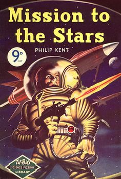 Mission to the Stars, Philip Kent (1954) cover by Ron Turner