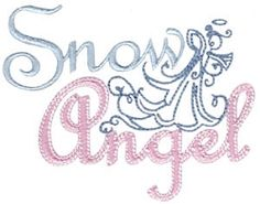 Snow Angel - 2 Sizes! | Angels | Machine Embroidery Designs | SWAKembroidery.com Bunnycup Embroidery