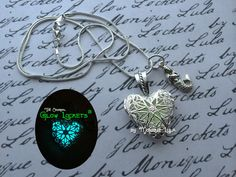 Glowies.net Glow Lockets and Glowing Jewelry by Monique Lula - Mermaid Heart of Atlantis Glow Locket ®