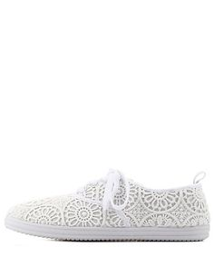 Low-Top Crochet Sneakers #ISportCharlotte #CharlotteLook #GetActive