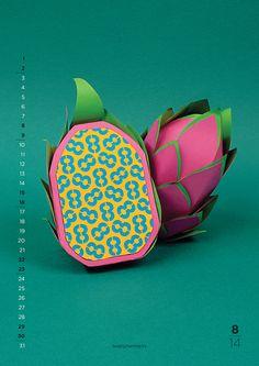 2014 Calendar | New Flavours on Behance