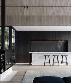 The First Ruum Collection by Chamberlain Architects featuring Fisher & Paykel appliances. A new model redefining the path to architect-designed homes in Melbourne. Architect Design House, Architecture Design, House Design, Landscape Architecture, Garden Design, Küchen Design, Modern Design, Design Ideas, Bright Kitchens