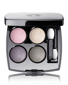 Chanel Les 4 Ombres Multi-Effect Quadra Eyeshadow (Limited Edition) in Shade 248; Tissue Rhapsodie. These colors are so beautiful and the color payoff is amazing. For a more dramatic look, lightly spray an eyeshadow brush with some water or MAC's Fix+ before applying to your lid/lash line.
