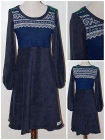 Kjoler og Sånt: Redesign av Marius Upcycle, Reuse, Dress Skirt, Bell Sleeve Top, Sewing, Knitting, Sweatshirts, Creative, Skirts