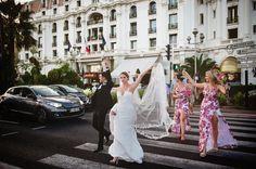 French riviera zebra crossing | Plisa Negresco Wedding
