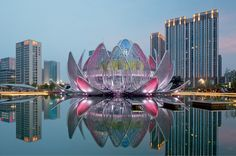 the lotus building by studio505 blooms in wujin, china