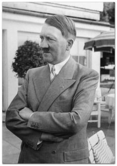 Adolf Hitler photographed in a business suit at the Berghof in Berchtesgaden, Germany, during a visit by Kong Xiangxi (June History Of Germany, Germany Ww2, Bavaria Germany, Fidel Castro, War Photography, The Third Reich, World War Ii, Wwii, People