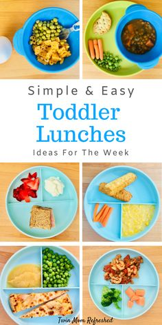 Simple Toddler Lunch Meals Simple and easy toddler lunches. These easy toddler lunch meals for toddlers are quick and filled with nutrition. Toddler meal ideas for home or daycare for a 1 year old, 18 month old, 2 year old and up! Healthy Toddler Lunches, Healthy Toddler Meals, Toddler Snacks, Toddler Activities, Toddler Breakfast Ideas, Montessori Activities, Family Activities, Healthy Food, Daycare Meals