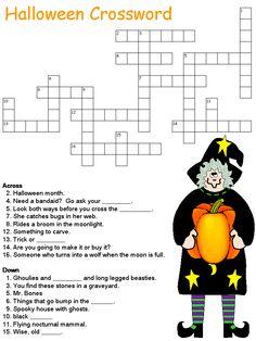Print Halloween Crosswords