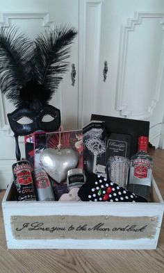 21st birthday masquerade hamper www.chic-dreams.co.uk