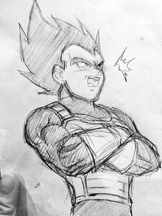 Vegeta sketch. - Visit now for 3D Dragon Ball Z compression shirts now on sale! #dragonball #dbz #dragonballsuper