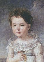 Hortense Beauharnais as a child, portrait by Gerard