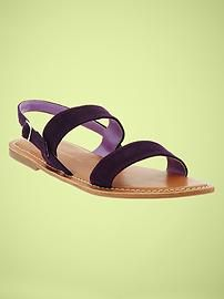 """I hope to """"Take a Walk"""" in these chic Gap festival sandals to see Passion Pit at Lollapalooza."""