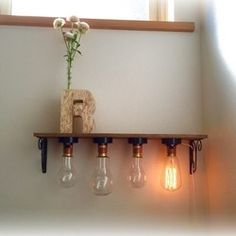 wall shelf & lamp container  *壁掛け棚*
