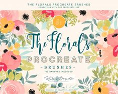 Procreate Floral Watercolor Brushes by Mariah Danielle on Graphic Design Tips, Blog Design, Design Trends, Watercolor Brushes, Watercolor Flowers, Watercolour, Floral Illustrations, Graphic Illustration, Watercolor Illustration