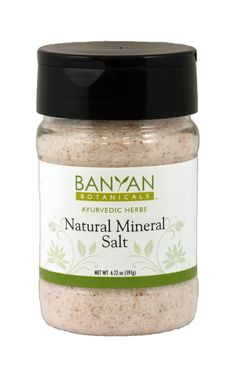 Salt, Natural Mineral (6.72 oz Spice Jar) $5.50
