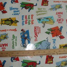 Robert Kaufman Dr Seuss LAMINATED cotton by neverenoughfabric, $10.50