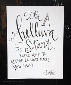 Lucille Ball Quote Hand Lettering Print by HeyNormalDayShop, $17.50