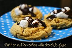Ice Cream Before Dinner: Fluffernutter Cookies with Chocolate Glaze