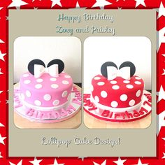Minnie Mouse Cakes for Twins Cakes for twins Pinterest Mouse