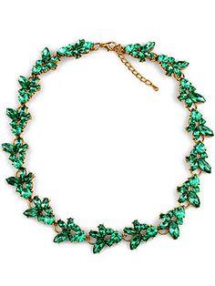 Collar cadena dorado piedra-Sheinside