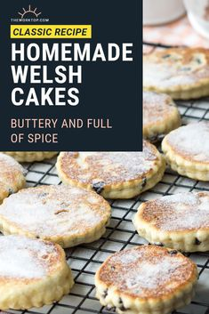 Perfectly buttery Welsh Cakes, packed with spices and raisins, and dusted with caster sugar. These are best enjoyed warm off the griddle. Breakfast Snacks, Sweet Breakfast, Perfect Breakfast, Breakfast For Kids, Breakfast Recipes, Breakfast Buffet, Christmas Breakfast, Breakfast Ideas, Best Pancake Recipe