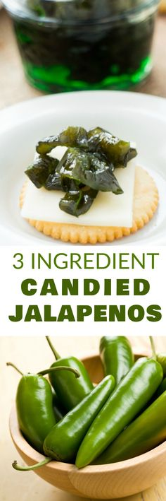 Easy 3 Ingredient Candied Jalapenos Recipe You Only Need Jalapenos, Sugar And Water To Make Refrigerator Candied Jalapenos Use These As An Appetizer Dip, On Top Of Crackers Or In Dinner Dishes Store In Refrigerator Or Use For Canning Jalapeno Recipes, Spicy Recipes, Mexican Food Recipes, Pepper Recipes, Szechuan Recipes, Jelly Recipes, Potato Recipes, Candied Jalapenos, Pickling Jalapenos