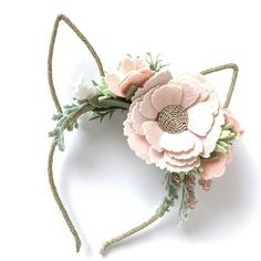 Some Bunny is turning One is such an amazing party theme. It can not be perfect without a bunny flower crown! Find your little darling's one at lovelyfelt.com @lovelyfelt
