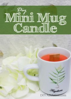 Surprise the mom in your life even if that mom is you! This DIY mini mug candle is fast, easy, and frugal making it a perfect gift idea.