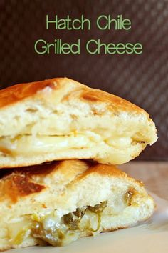 Quick and Easy Recipe for Hatch Green Chile Grilled Cheese Hatch Green Chili Recipe, Green Chili Recipes, Hatch Chili, Mexican Food Recipes, Mexican Dishes, Mexican Bread, Soup And Sandwich, Sandwich Recipes, Grilled Sandwich