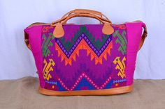Hot find in hot pink! This weekender bag will kick off any vacation in style. Check out this item in my Etsy shop https://www.etsy.com/listing/212741631/rich-pink-guatemalan-extra-large-leather