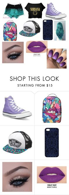 """Untitled #325"" by kidcreepy ❤ liked on Polyvore featuring Levi's, Converse, Sprayground, Vans, Samantha Warren London and Smashbox"