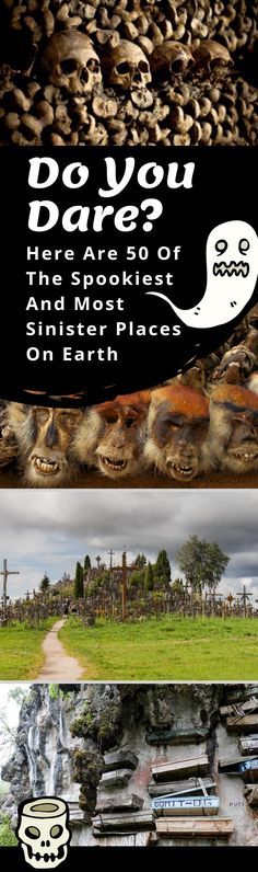 Take a journey through the 50 spookiest places on Earth. Places Around The World, Oh The Places You'll Go, Places To Visit, Around The Worlds, Spooky Places, Haunted Places, Spooky World, Vacation Places, Vacations