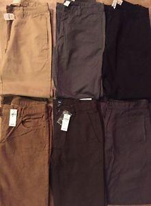 Lot of 6 GAP Men's Boy's Flat Front Chino Khakis Pants 28x30 (3 NWT)  | eBay