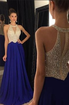 Cheap dress cat, Buy Quality gown store directly from China gown prom dress Suppliers: A line Prom Dresses 2016 Chiffon Halter Crystal Beaded Formal Evening Dress Long Party Gowns vestidos de baile Royal Blue Prom Dresses, Best Prom Dresses, Bridesmaid Dresses, Homecoming Dresses, Dresses 2016, Pageant Dresses For Teens, Long Blue Prom Dresses, Cheap Dresses, Dresses Dresses